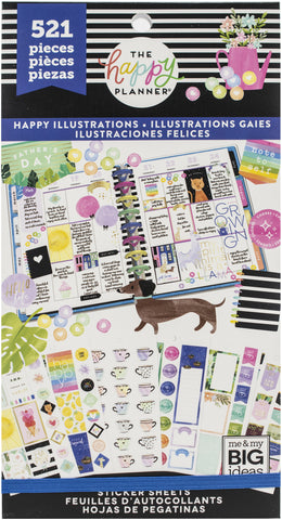 Happy Planner Sticker Value Pack Happy Illustrations 521pk