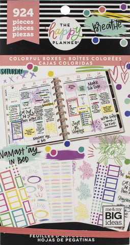Happy Planner Sticker Value Pack Highlights Boxes 924pk
