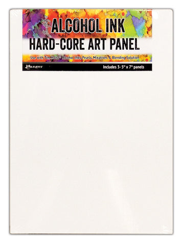 Tim Holtz Alcohol Ink Hard Core Art Panel 5inX7in 3pk