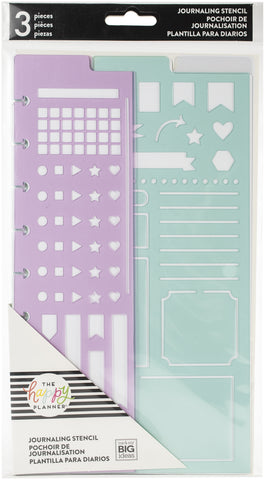 Happy Planner Journaling Stencils 3pk