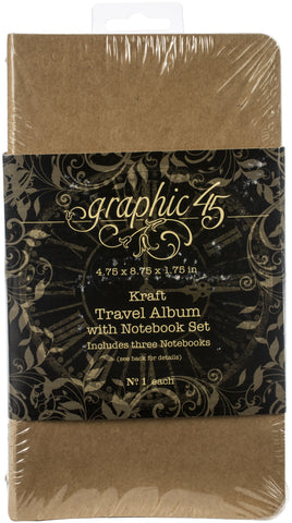 Graphic 45 Staples Travel Album Set with Notebook