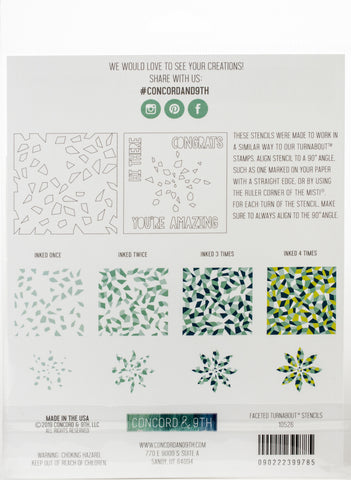 Concord and 9th Stencil Pack Faceted Turnabout 2pk