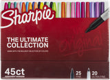 Sharpie Ulitmate Pack Markers Cosmic, Assorted Colors & Tips 45pk