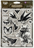 Finnabair Cling Stamps Wild & Free 6inX7.5in