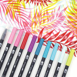 Tombow Dual Brush Markers Tropical 10pk