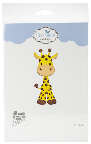 Elizabeth Craft Metal Die Giraffe 1.4inX3.8in