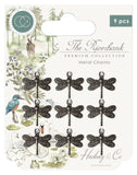 Craft Consortium The Riverbank Metal Charms Silver Dragonfly 9pk
