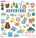 Bella Blvd Chipboard Stickers Let's Go On An Adventure 12inX12in