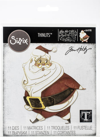 Sizzix Thinlits Dies By Tim Holtz Jolly St. Nick