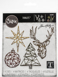 Sizzix Thinlits Dies By Tim Holtz Geo Christmas