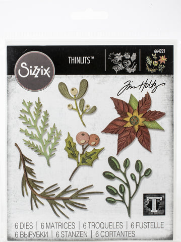 Sizzix Thinlits Dies By Tim Holtz Funky Festive Florals
