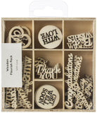 Kaisercraft Wood Mini Themed Embellishments With Love 45pk
