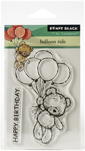 Penny Black Clear Stamps Balloon Ride 3inX4in