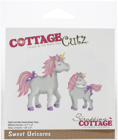 CottageCutz Dies Sweet Unicorns 1.8in To 3in
