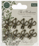 Craft Consortium The Herbarium Metal Charms Brass Herb Scissors 8pk