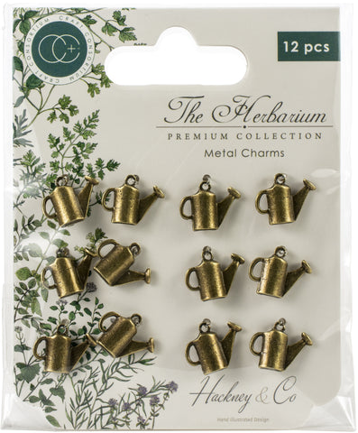 Craft Consortium The Herbarium Metal Charms Brass Watering Can 12pk