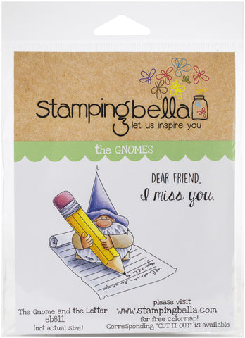 Stamping Bella Cling Stamps Gnome & The Letter