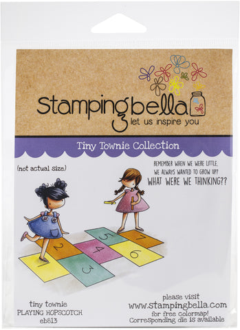 Stamping Bella Cling Stamps Tiny Townies Playing Hopscotch
