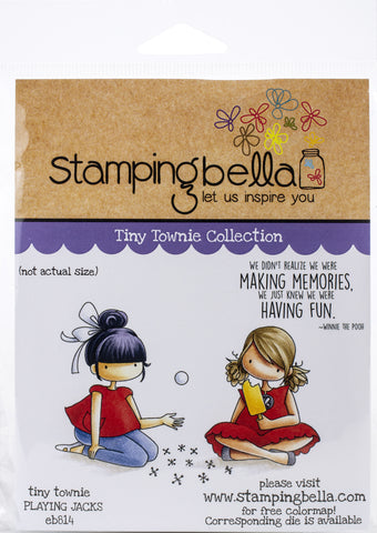 Stamping Bella Cling Stamps Playing Jacks