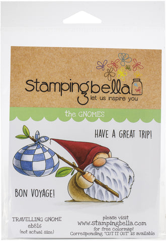 Stamping Bella Cling Stamps Traveling Gnome