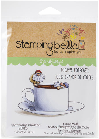 Stamping Bella Cling Stamps Swimmer Gnomes
