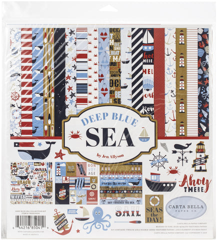 Carta Bella Collection Kit Deep Blue Sea 12inX12in