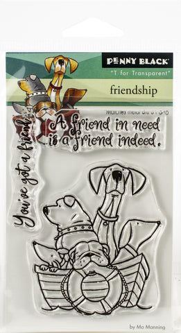 Penny Black Clear Stamps Friendship 3inX4in