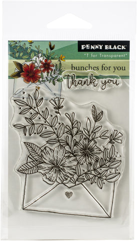 Penny Black Clear Stamps Bunches For You 3inX4in