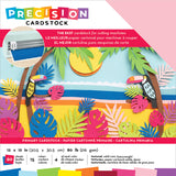 Precision Cardstock Pack Primary Textured 80lb 12inX12in 60pk