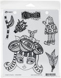 Dyan Reaveley's Dylusions Cling Stamp Collections Crown Of Roses 8.5inX7in