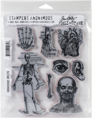 Tim Holtz Cling Stamps Cadaverous 7inX8.5in