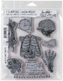 Tim Holtz Cling Stamps Weird Science 7inX8.5in