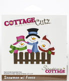 CottageCutz Dies Snowmen with Fence 3.2in To 2.4in