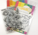 Waffle Flower Stamp & Die Set Peony Bouquet