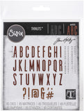 Sizzix Thinlits Dies By Tim Holtz Alphanumeric Classic Upper 65pk