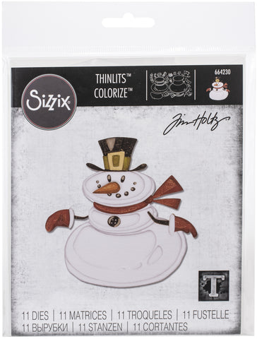 Sizzix Thinlits Dies By Tim Holtz Mr. Snowman Colorize 11pk