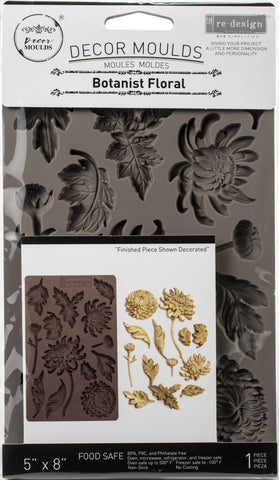 Prima Marketing Re-Design Mould Botanist Floral 5inX8inX8mm