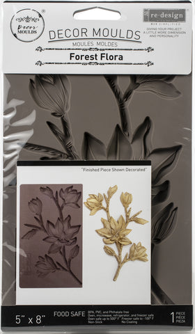 Prima Marketing Re-Design Mould Forest Flora 5inX8inX8mm