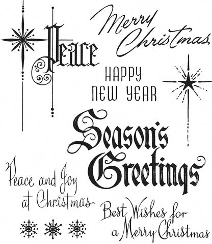 Tim Holtz Cling Stamps Christmastime #2 7inX8.5in