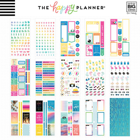 Happy Planner Sticker Value Pack Summer 804pk