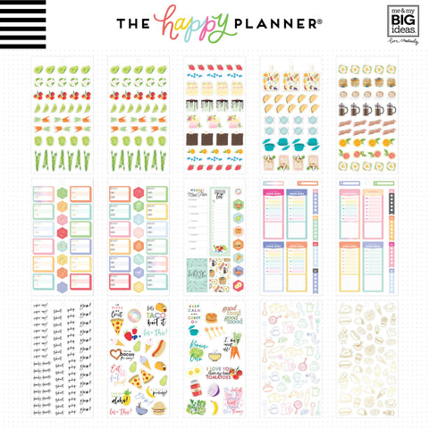 Happy Planner Sticker Value Pack Yum 714pk