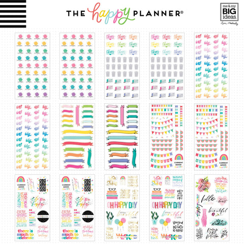 Happy Planner Sticker 100 Sheet Value Pack Brights 3888pk