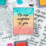 Pinkfresh Studio Clear Stamp Set No One Compares To You 6inX8in