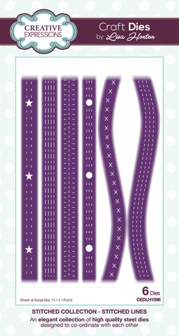 Creative Expressions Stitched Collection Craft Die Stiched Lines