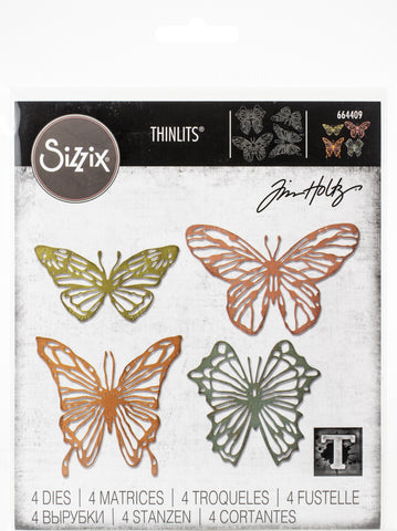 Sizzix Thinlits Dies By Tim Holtz Scribbly Butterfly