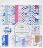 Doodlebug Double-Sided Paper Pack Winter Wonderland 12inX12in 12pk