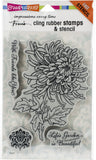Stampendous Cling Stamps Garden Mum