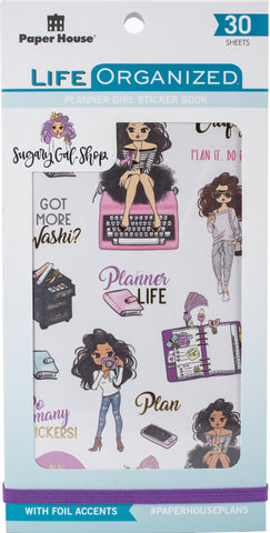 Paper House Sticker Book Planner Girl Sugary Gal 30 Sheets