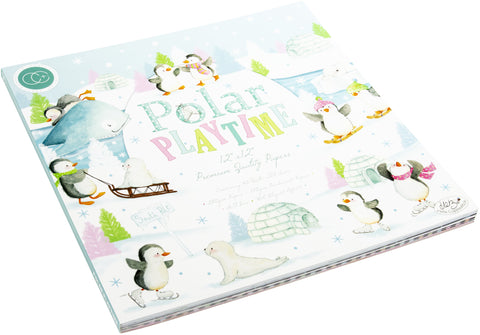 Craft Consortium Double-Sided Paper Pad Polar Playtime 12inX12in 40pk