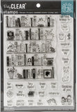 Hero Arts Color Layering Clear Stamps Bookcase Peek-A-Boo 4inX6in